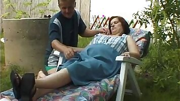 Pregnant Whooping and farting during passionate blowjob after massage