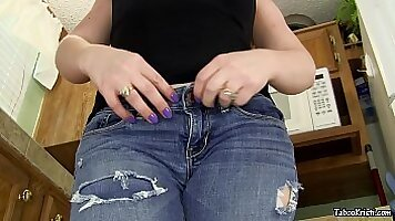 Step sister proceeded to wank younger brother ass
