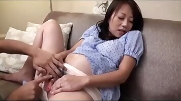 month pregnant thin japanese chick fucked