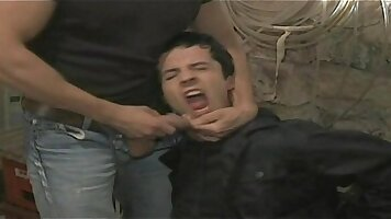 First gay porn forced to suck a huge dong and be torn