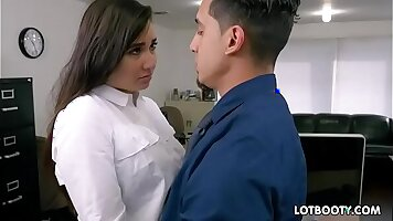 Busty Chichi Chico Girdles Her Hairy Pussy to Ass