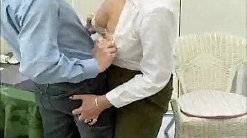 Crazy old mom sucks BBC cock like it stands