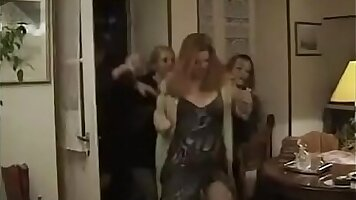 Bewitching lesbian group sex action