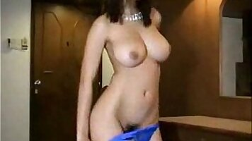 Appetizing thai beauty with strip dancing and lips toying