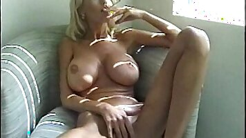 Blonde MILF fucking with boy in The Smoking Room