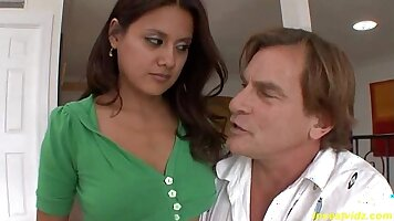 Brunettes step daughter nervous Operation Pussy Run