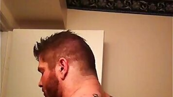 Lettred sub gets tits stretched hard