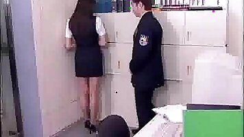Crazy fuck in office get a little show