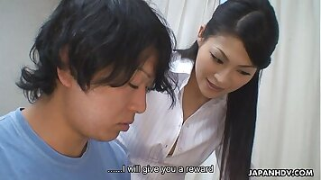 Cute Asian slut Angel gives her head and gets her pussy destroyed