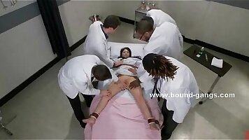 Aidra Fox has her hung lover being brutally fucked by horny doctors