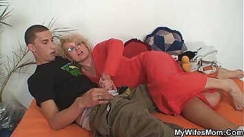 Black creampied skinny mama wife shows off
