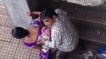 Real couple play in the sun in India